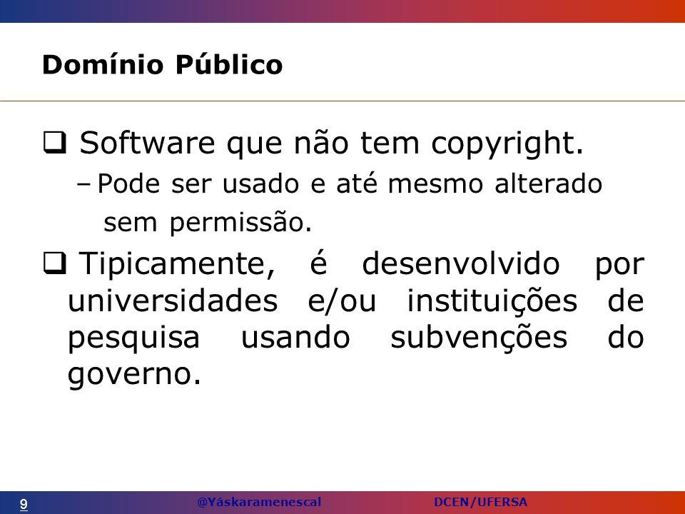 Software que não tem copyright.