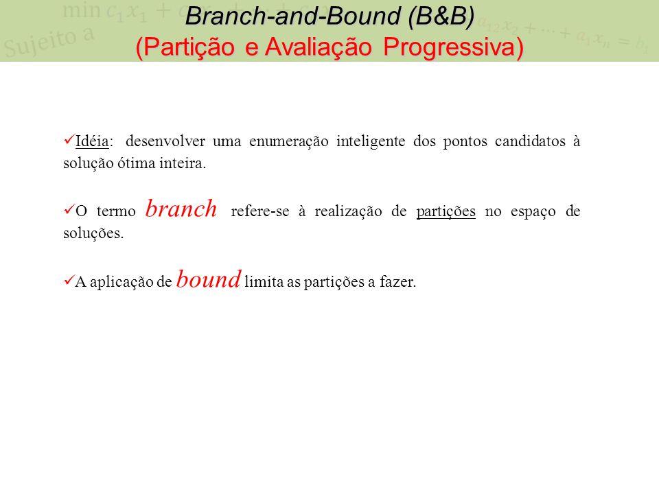 Branch-and-Bound (B&B) (Partição e Avaliação Progressiva)