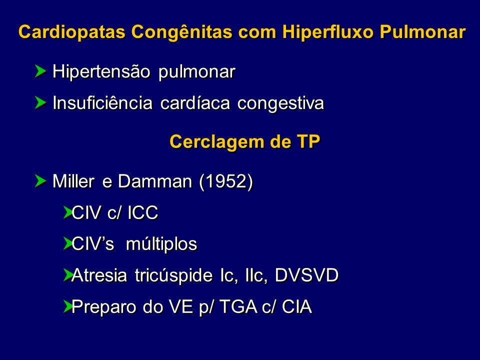 Cardiopatas Congênitas com Hiperfluxo Pulmonar