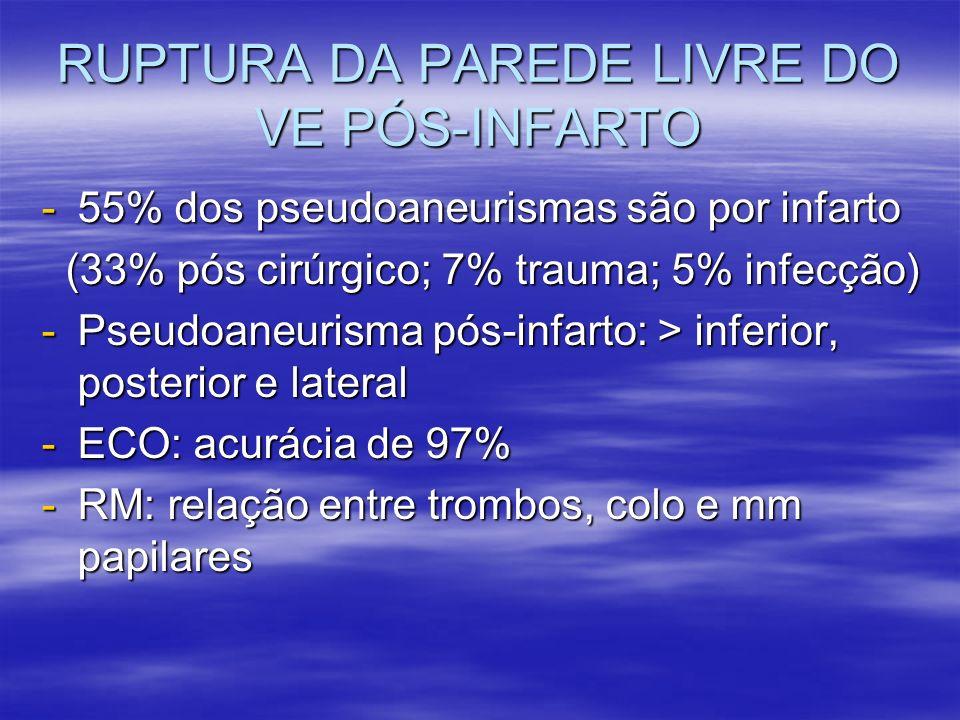 RUPTURA DA PAREDE LIVRE DO VE PÓS-INFARTO