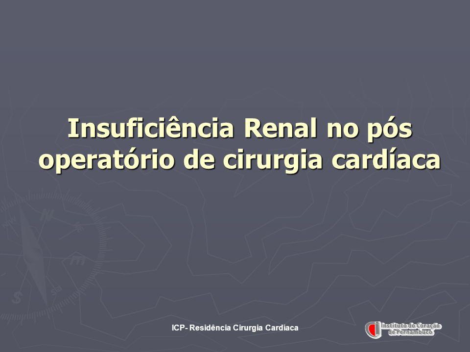Insuficiência Renal no pós operatório de cirurgia cardíaca