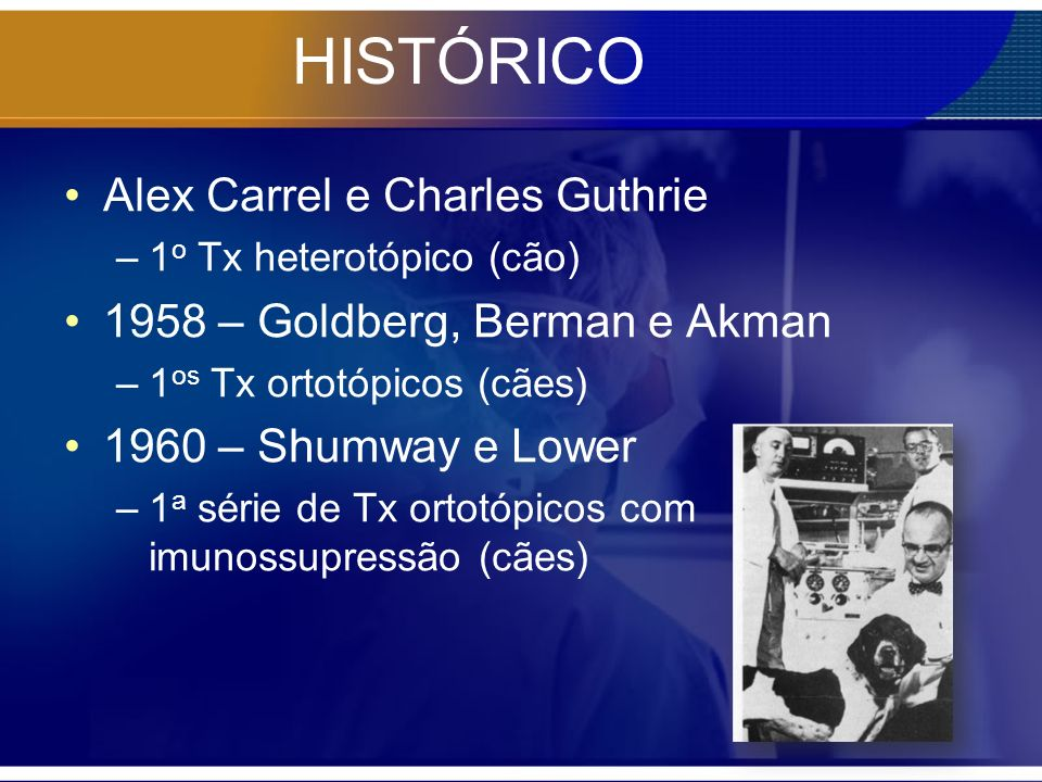HISTÓRICO Alex Carrel e Charles Guthrie