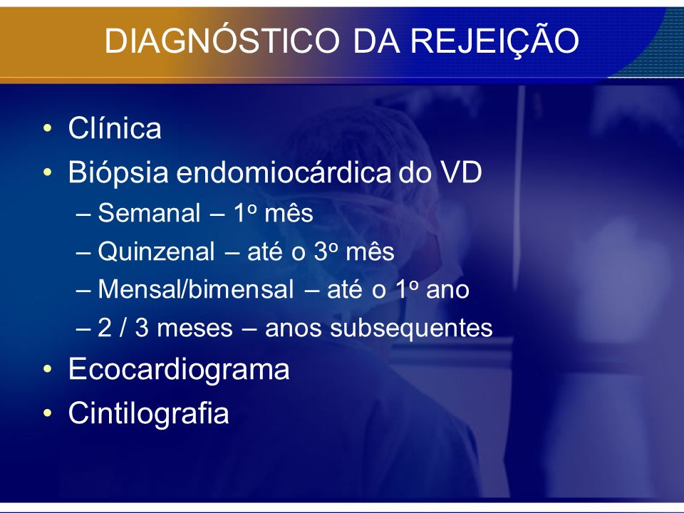 DIAGNÓSTICO DA REJEIÇÃO