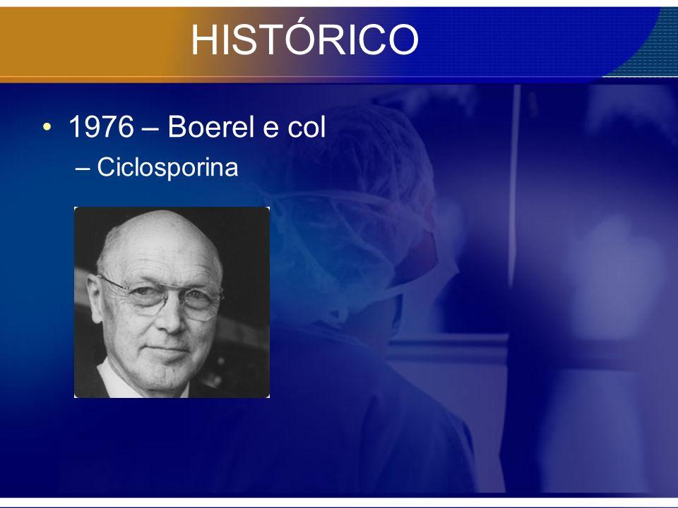 HISTÓRICO 1976 – Boerel e col Ciclosporina