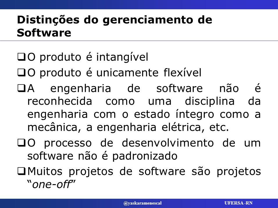 Distinções do gerenciamento de Software