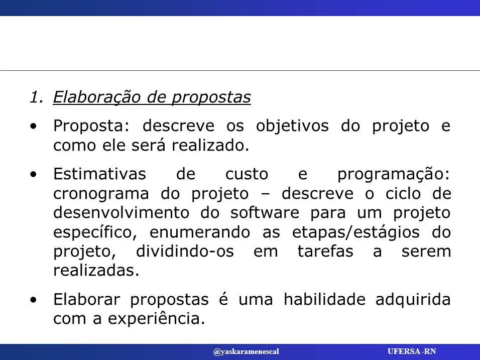 Elaboração de propostas