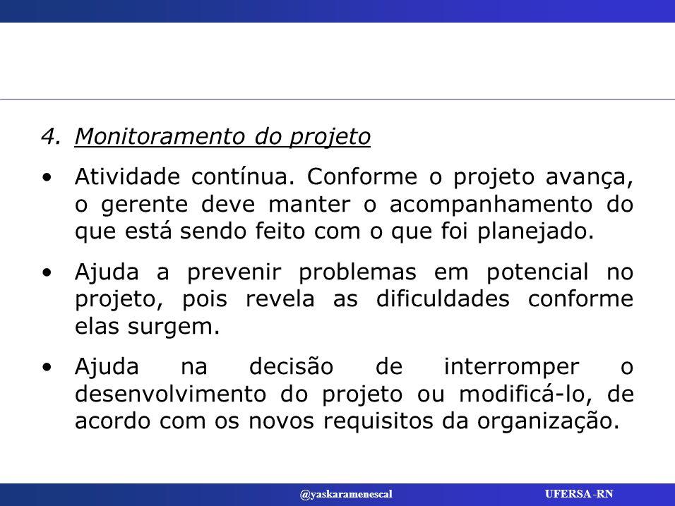 Monitoramento do projeto
