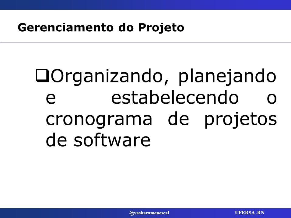 Gerenciamento do Projeto