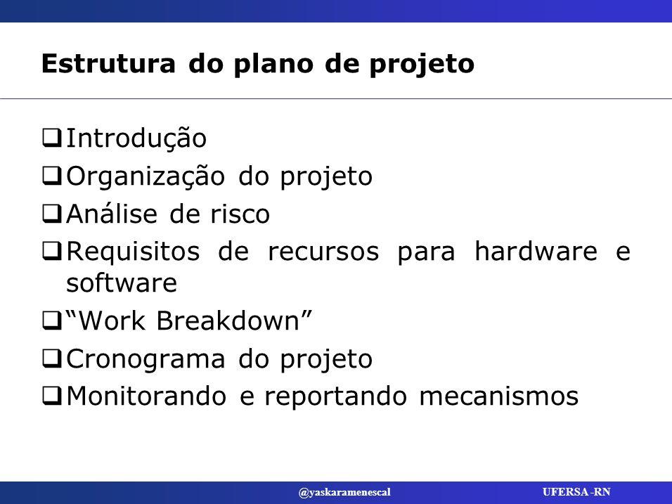 Estrutura do plano de projeto