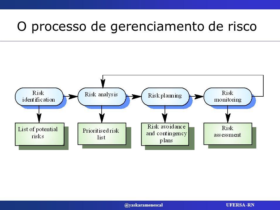 O processo de gerenciamento de risco
