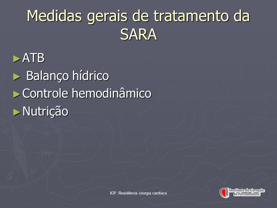 Medidas gerais de tratamento da SARA