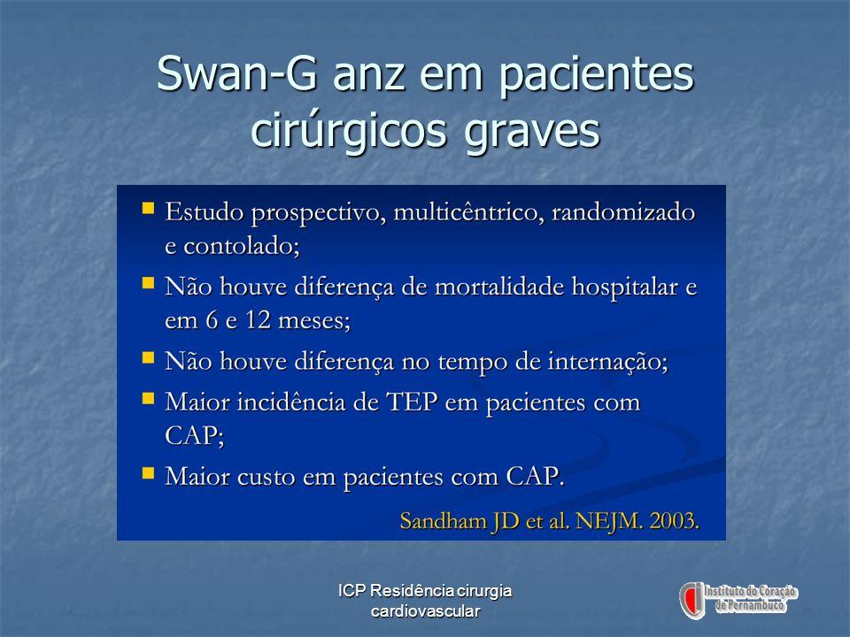 Swan-G anz em pacientes cirúrgicos graves
