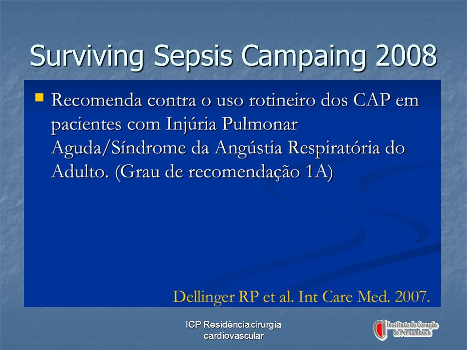 Surviving Sepsis Campaing 2008