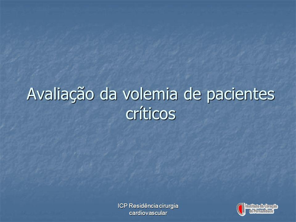 Avaliação da volemia de pacientes críticos