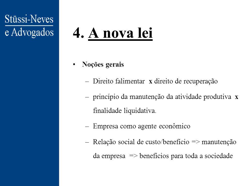 4. A nova lei Noções gerais