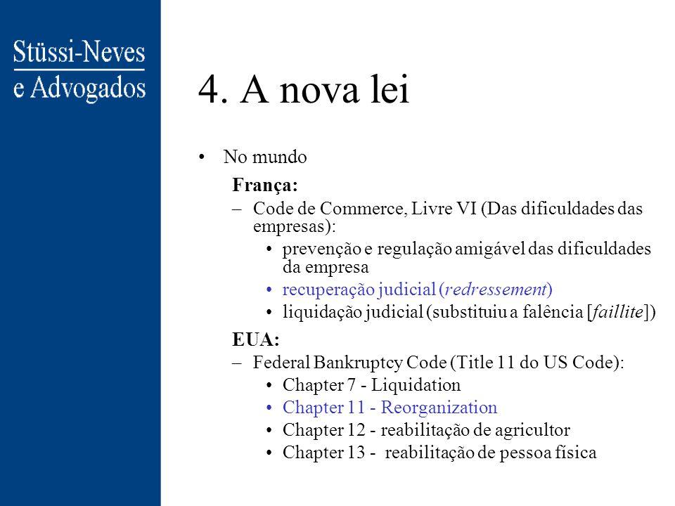 4. A nova lei No mundo França: EUA: