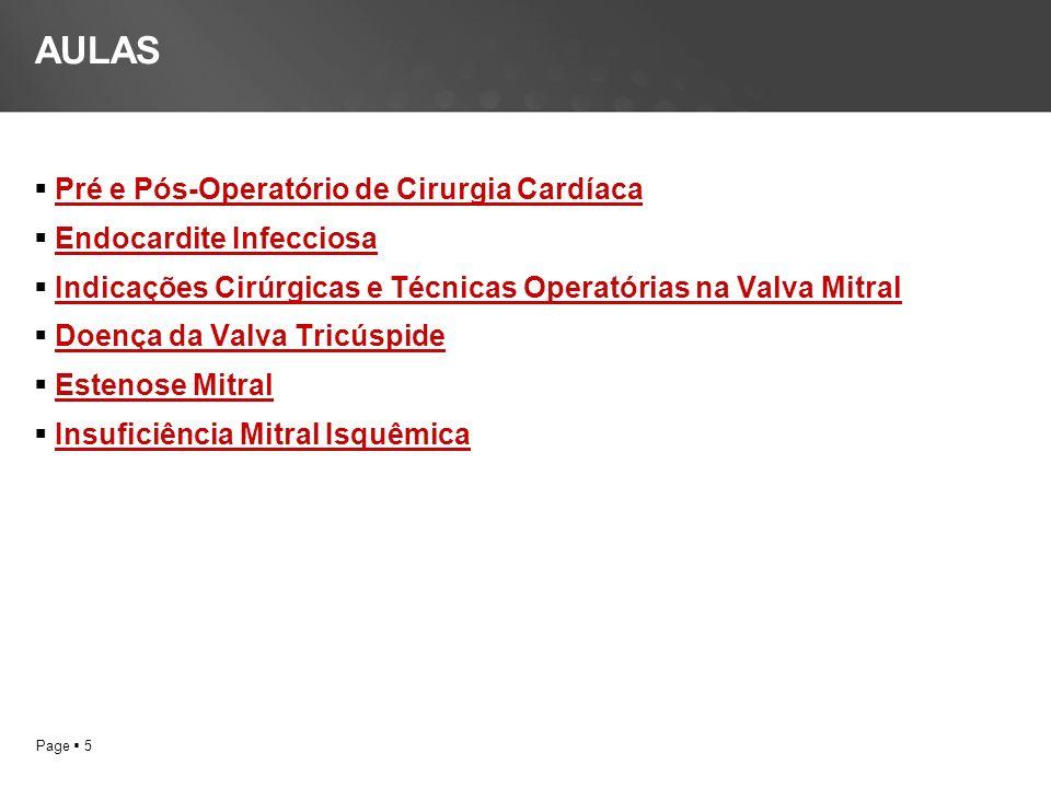 AULAS Pré e Pós-Operatório de Cirurgia Cardíaca Endocardite Infecciosa