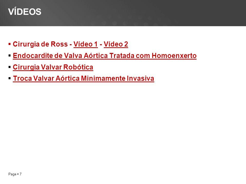 VÍDEOS Cirurgia de Ross - Vídeo 1 - Vídeo 2