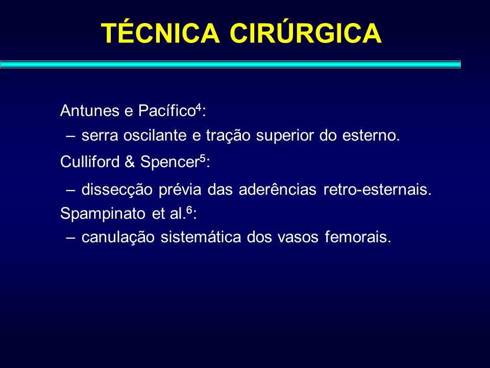 TÉCNICA CIRÚRGICA Antunes e Pacífico4: Culliford & Spencer5: