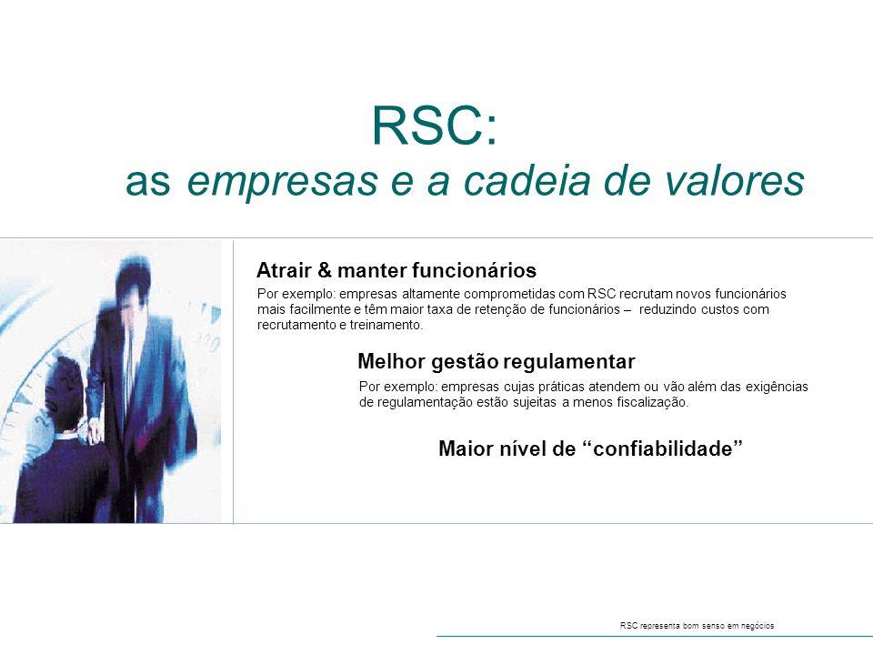RSC: as empresas e a cadeia de valores