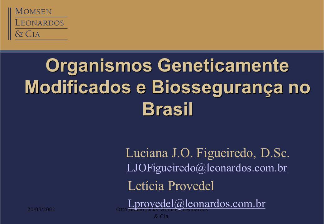 Organismos Geneticamente Modificados e Biossegurança no Brasil