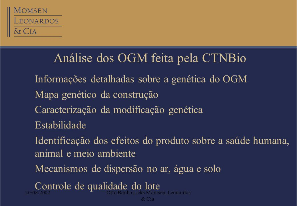 Análise dos OGM feita pela CTNBio