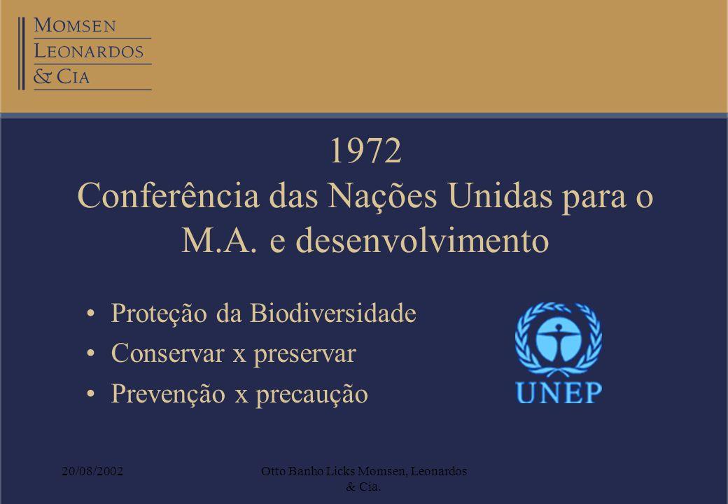 1972 Conferência das Nações Unidas para o M.A. e desenvolvimento