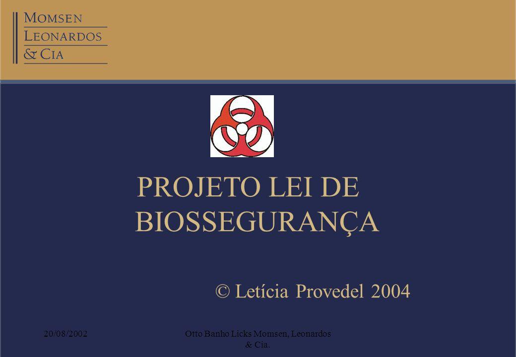PROJETO LEI DE BIOSSEGURANÇA