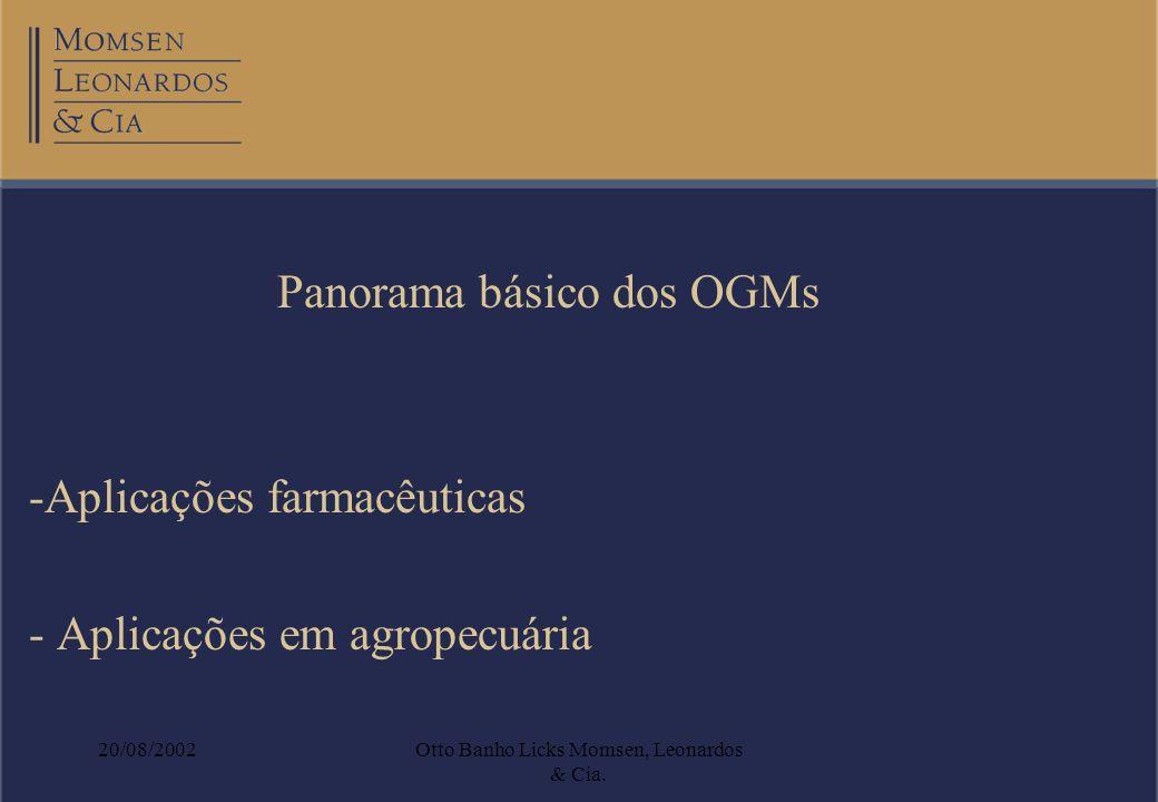 Panorama básico dos OGMs