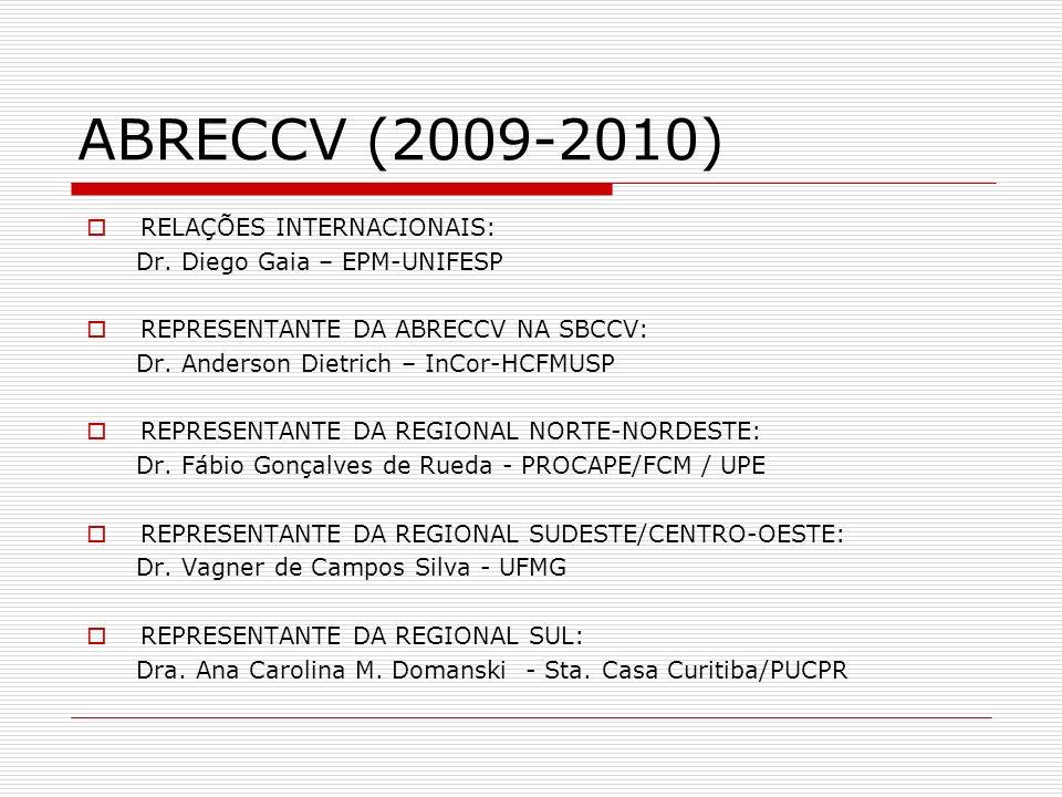 ABRECCV (2009-2010) RELAÇÕES INTERNACIONAIS: