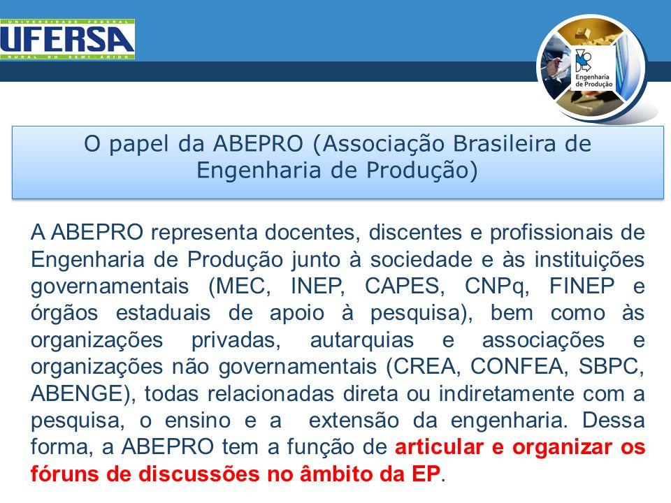 O papel da ABEPRO (Associação Brasileira de Engenharia de Produção)