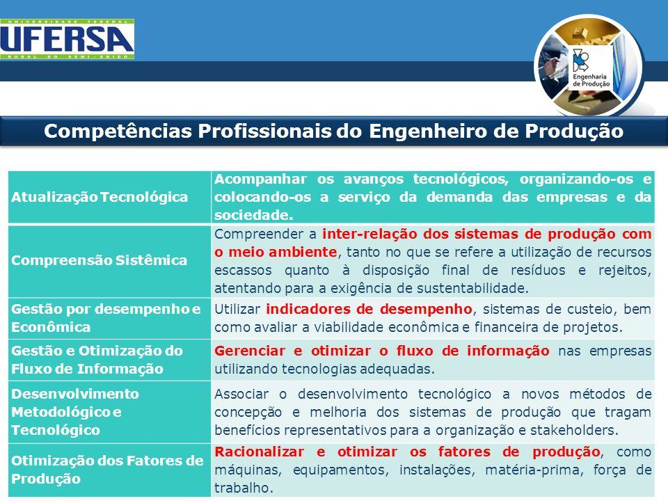 Competências Profissionais do Engenheiro de Produção