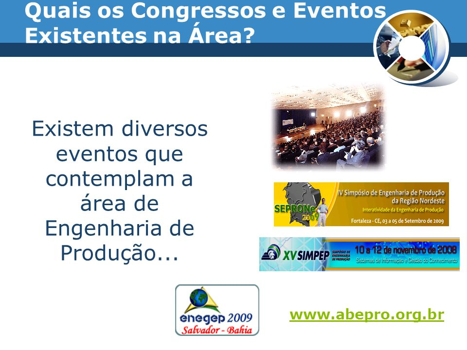 Quais os Congressos e Eventos Existentes na Área