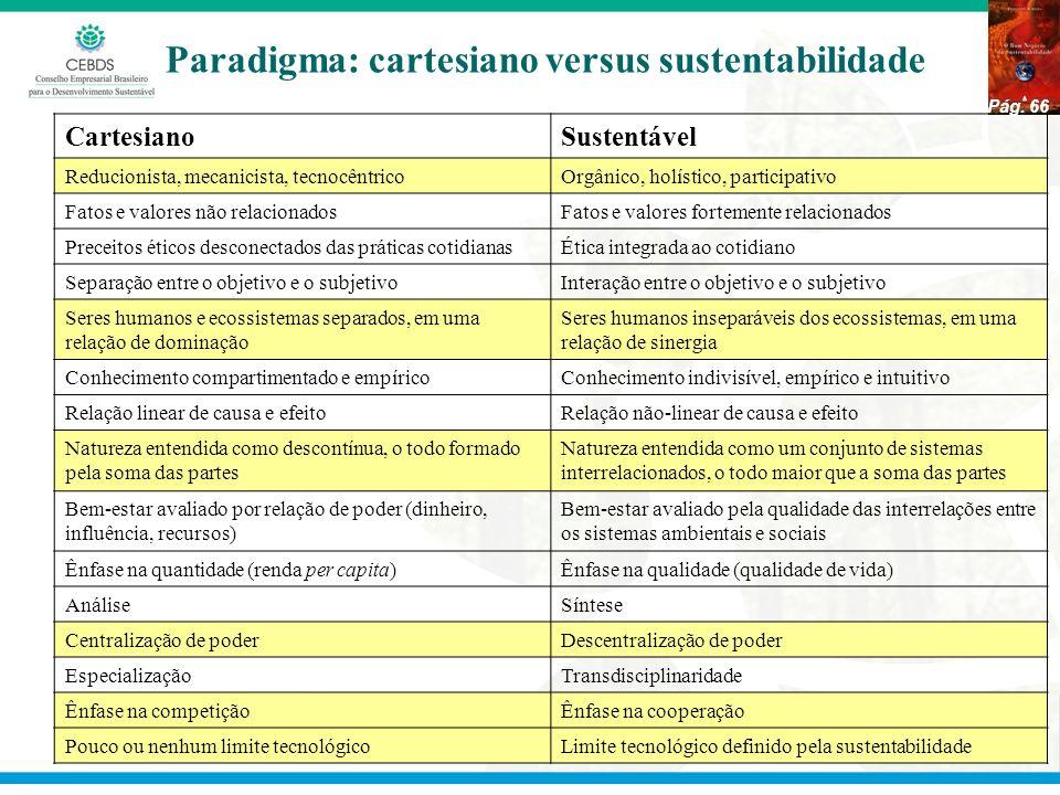 Paradigma: cartesiano versus sustentabilidade