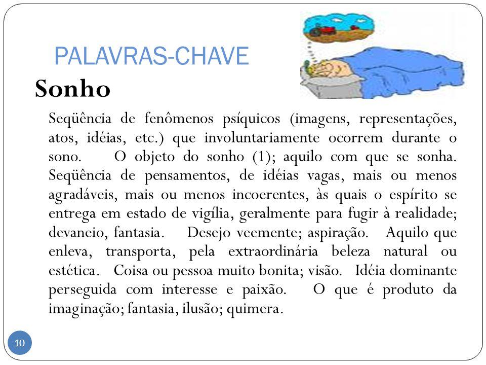 PALAVRAS-CHAVE Sonho.