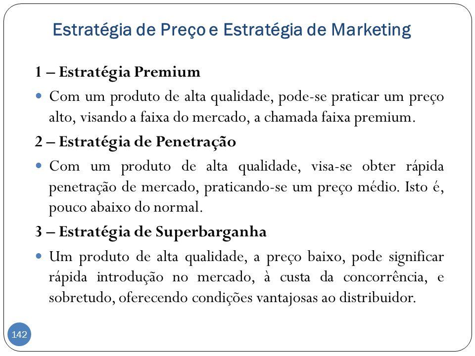 Estratégia de Preço e Estratégia de Marketing
