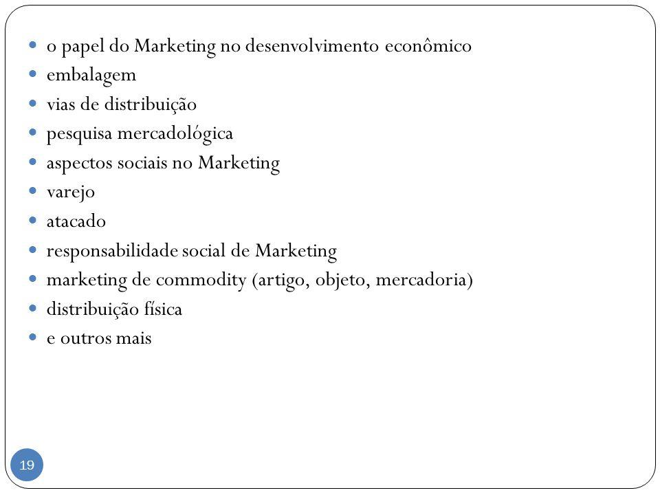 o papel do Marketing no desenvolvimento econômico