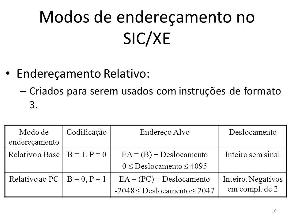 Modos de endereçamento no SIC/XE