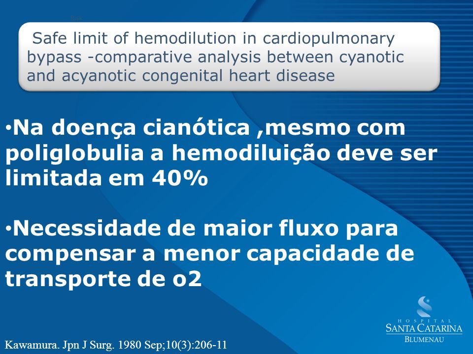 RiskSafe limit of hemodilution in cardiopulmonary bypass -comparative analysis between cyanotic and acyanotic congenital heart disease.