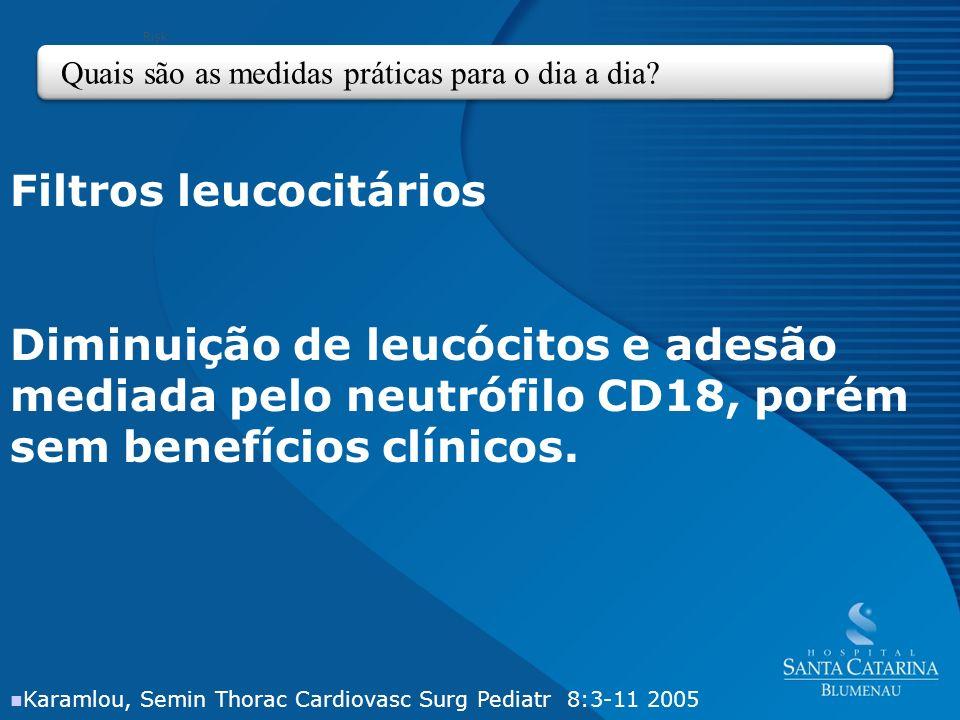 Filtros leucocitários