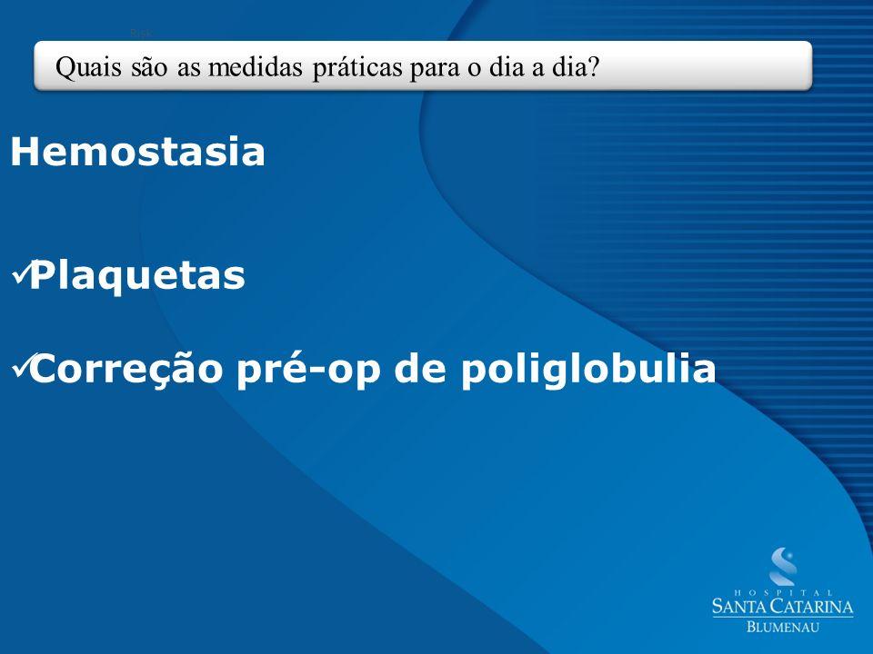Correção pré-op de poliglobulia