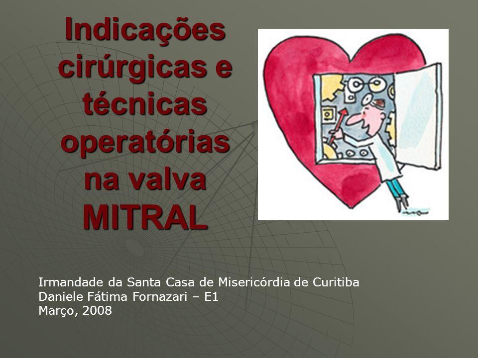 Indicações cirúrgicas e técnicas operatórias na valva MITRAL