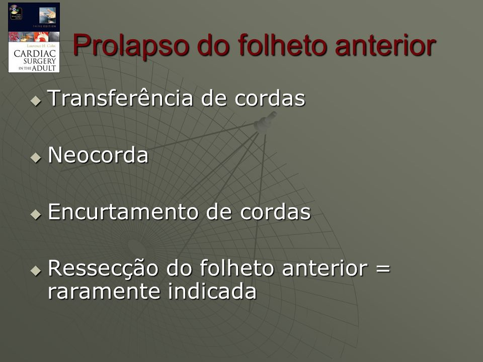Prolapso do folheto anterior