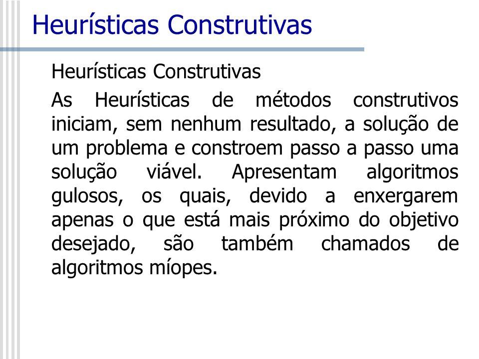 Heurísticas Construtivas