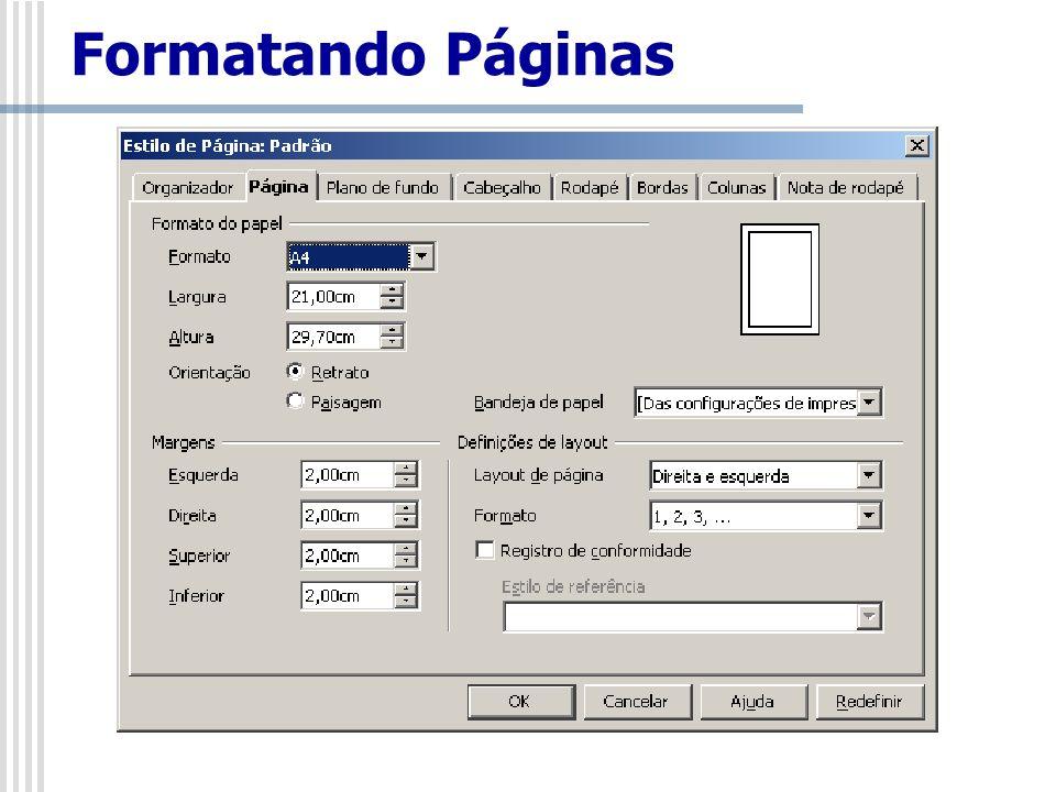 Formatando Páginas