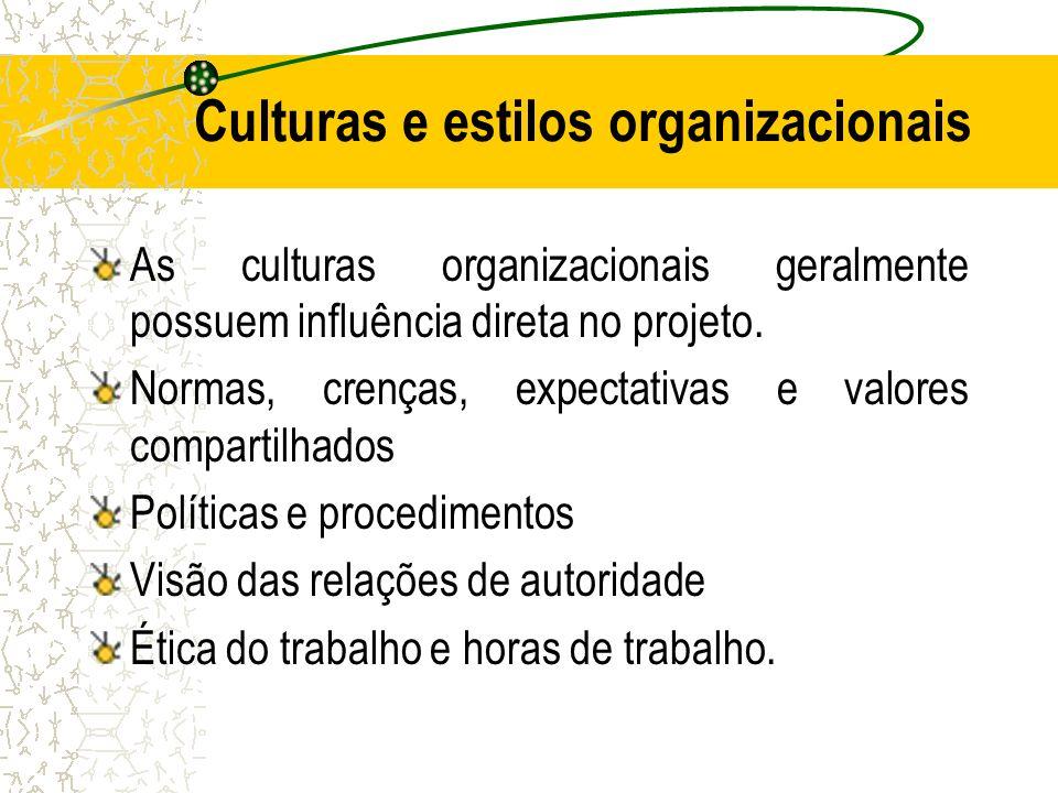 Culturas e estilos organizacionais