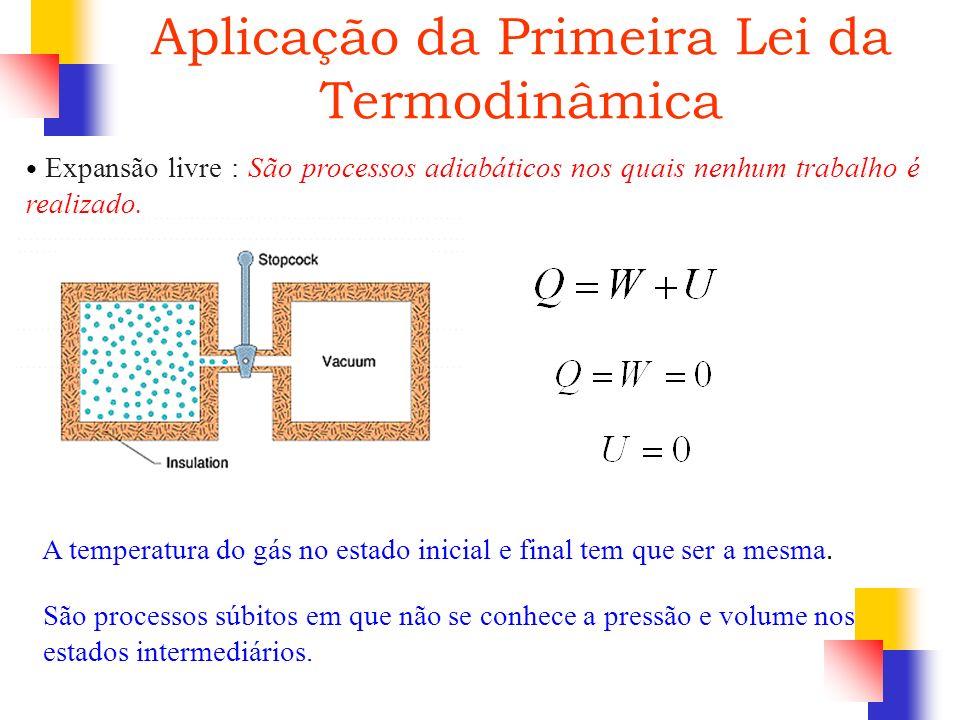 Aplicação da Primeira Lei da Termodinâmica