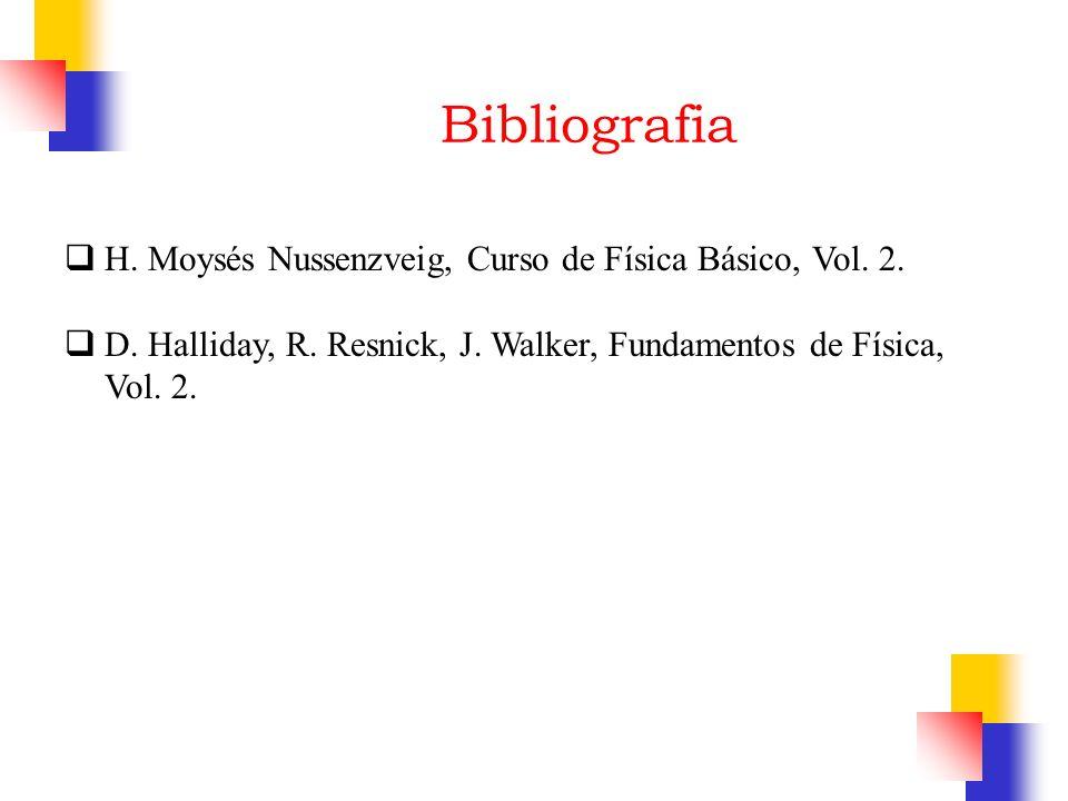 Bibliografia H. Moysés Nussenzveig, Curso de Física Básico, Vol. 2.