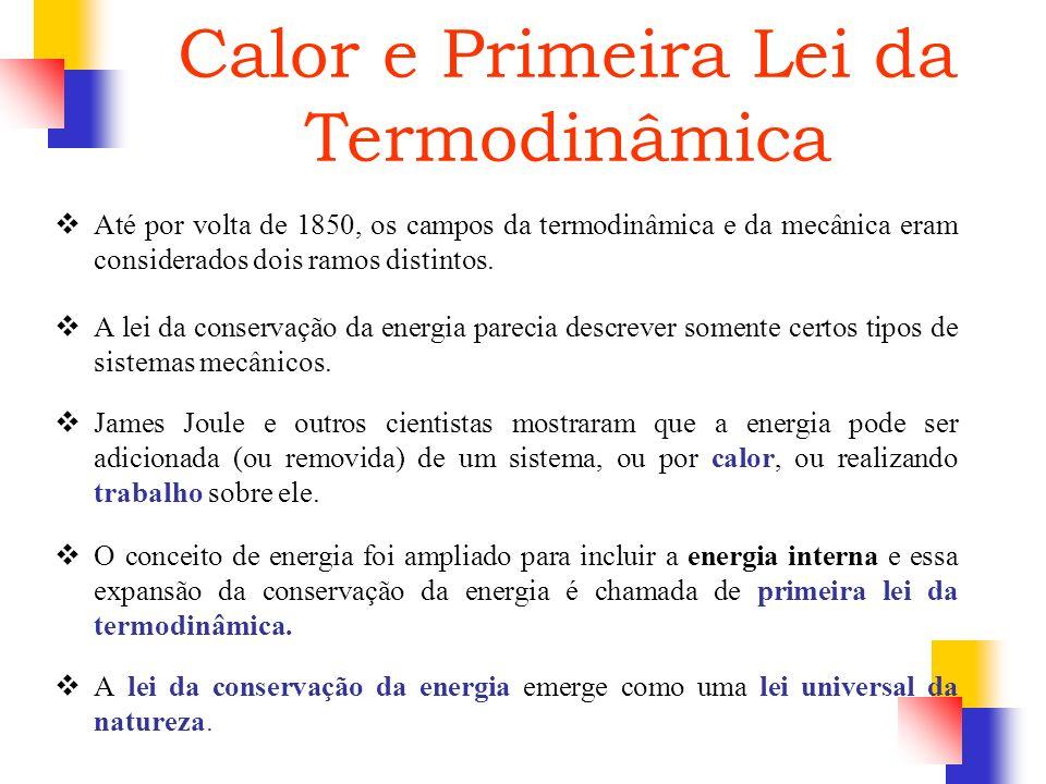 Calor e Primeira Lei da Termodinâmica