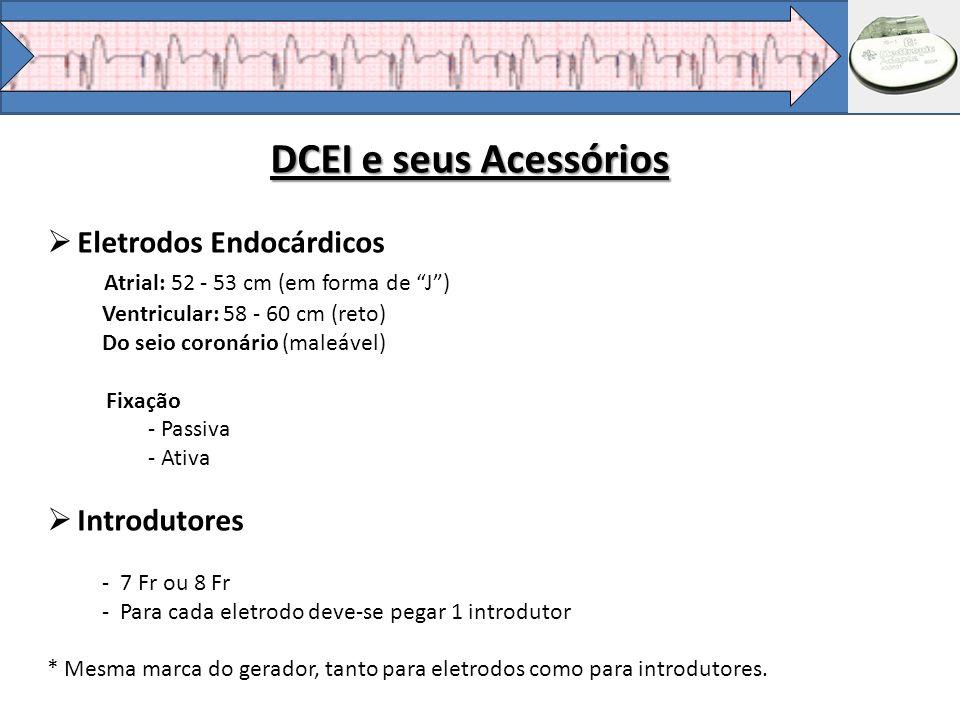DCEI e seus Acessórios Eletrodos Endocárdicos